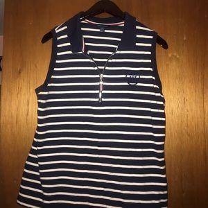Tommy Hilfiger sleeveless zip up shirt